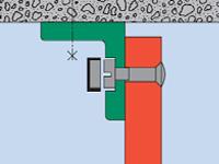 Maueranschlusswinkel einfach