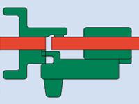 Kabinentür Verschlussriegel - technische Zeichnung